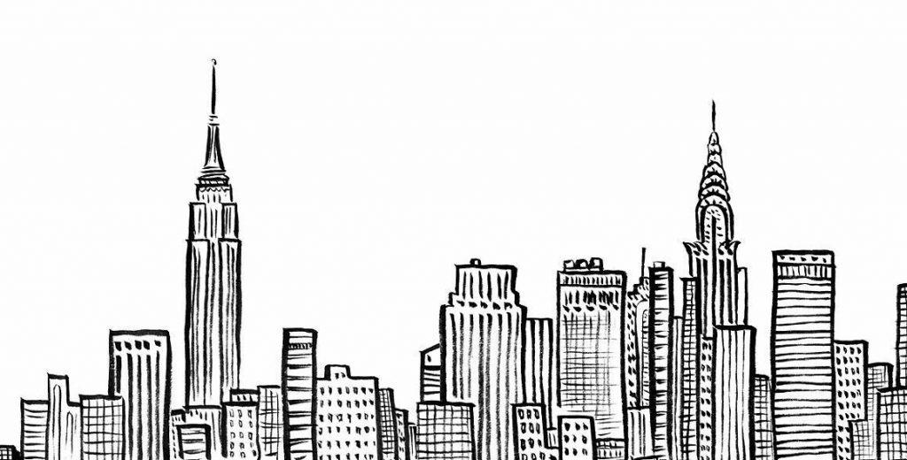 Relieve de edificios de Nueva York.
